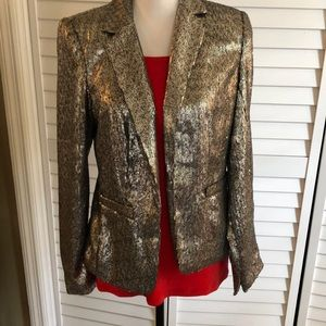 Micheal Kors silver sequined blazer